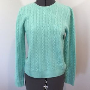 100% cashmere Ralph Lauren sea green sweater